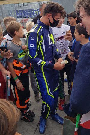 Lando Norris all'Adria Karting Raceway