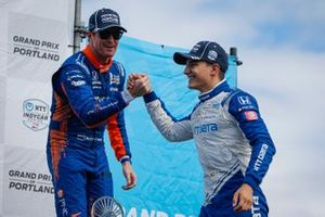 1. Alex Palou, Chip Ganassi Racing Honda, 3. Scott Dixon, Chip Ganassi Racing Honda