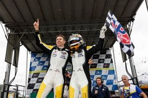 #4: Corvette Racing Corvette C8.R, GTLM: Tommy Milner, Nick Tandy celebrate in victory lane