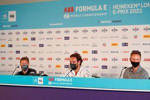 Sam Bird, Jaguar Racing, Jean-Eric Vergne, DS Techeetah, Rene Rast, Audi Sport ABT Schaeffler