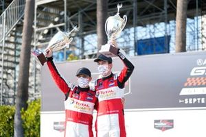 #1: Paul Miller Racing Lamborghini Huracan GT3, GTD: Madison Snow, Bryan Sellers, podio, ganador