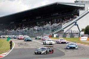 Kelvin van der Linde, Abt Sportsline Audi R8 LMS GT3 au départ du tour de formation
