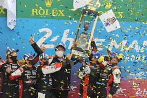 Race winners #7 Toyota Gazoo Racing Toyota GR010 - Hybrid Hypercar, Mike Conway, Kamui Kobayashi, Jose Maria Lopez
