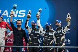 Podium LMGTE Am: third place #80 Iron Lynx Ferrari 488 GTE EVO LMGTE Am, Matteo Cressoni, Rino Mastronardi, Calum Illot