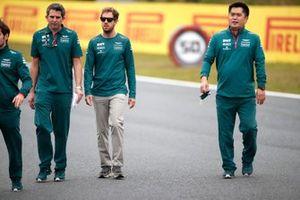 Sebastian Vettel, Aston Martin walks the track
