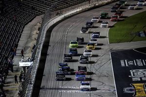 Johnny Sauter, GMS Racing, Chevrolet Silverado ISM Connect leads at the start