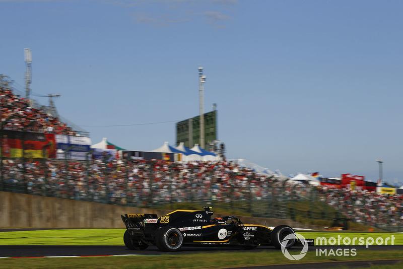 Карлос Сайнс финишировал девятым и заработал первое очко для Renault на «Сузуке» с 2011 года – тогда Виталий Петров стал девятым и набрал два балла