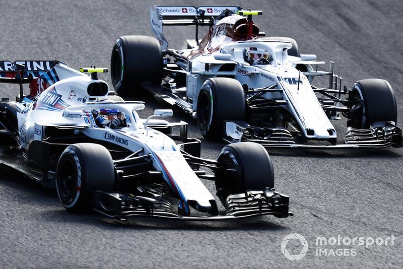 Sergey Sirotkin, Williams FW41, batalla con Charles Leclerc, Sauber C37