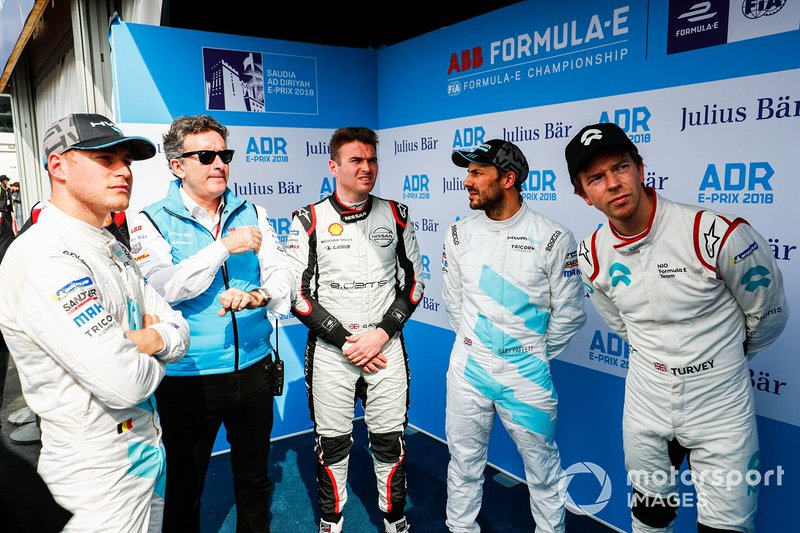Stoffel Vandoorne, HWA Racelab, Alejandro Agag, CEO, Formula E, Oliver Rowland, Nissan e.Dams, Gary Paffett, HWA Racelab, Oliver Turvey, NIO Formula E Team
