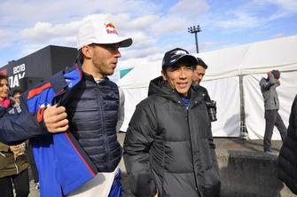 Takuma Sato en Pierre Gasly