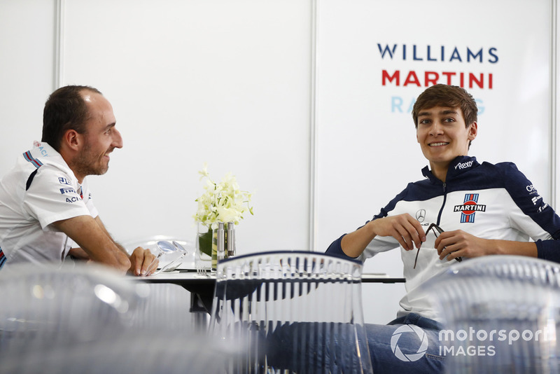 Robert Kubica, Williams Martini Racing, ve George Russell