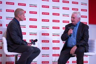 Pat Symonds talks to Stuart Codling on the Autosport Stage
