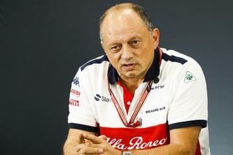 Frederic Vasseur, director del equipo, Sauber, en la conferencia de prensa de directores de equipo