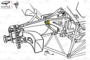 Ferrari 312B3 front suspension, Belgian GP