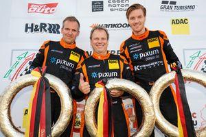 Podium: #444 Porsche Cayman 981: Daniel Zils, Christian Konnerth, Norbert Fischer