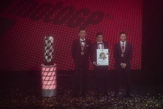 Top 3 der MotoGP-WM 2018: 1. Marc Marquez, 2. Andrea Dovizioso, 3. Valentino Rossi