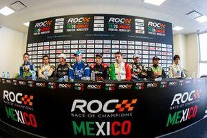 The ROC Mexico competitors in a press conference