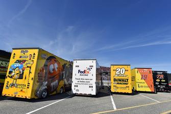 Joe Gibbs Racing team haulers