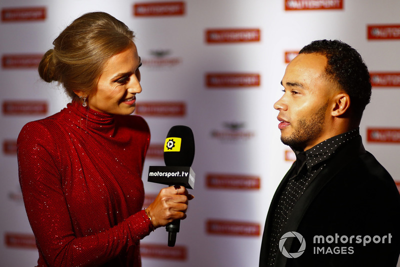 Nicolas Hamilton being interviewed