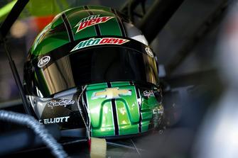 Il casco di Chase Elliott, Hendrick Motorsports, Chevrolet Camaro Mountain Dew