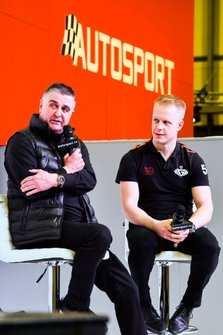 Martin Donnelly and Mike Simpson on stage