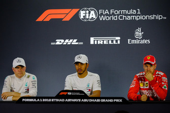 Press Conference: (Left to Right) Valteri Bottas, Mercedes AMG F1, Lewis Hamilton, Mercedes AMG F1, Sebastian Vettel, Ferrari