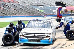 Ryan Truex, Niece Motorsports, Chevrolet Silverado Marquis Spas pit stop
