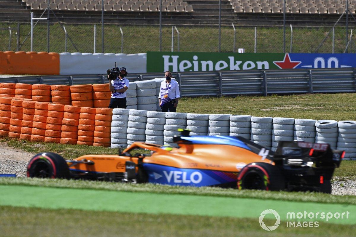 Martin Brundle di Sky TV commenta Lando Norris, McLaren MCL35M