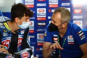 Andrea Locatelli, PATA Yamaha WorldSBK Team and Andrew Pitt