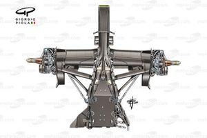 Alpha Tauri AT02 gearbox suspension
