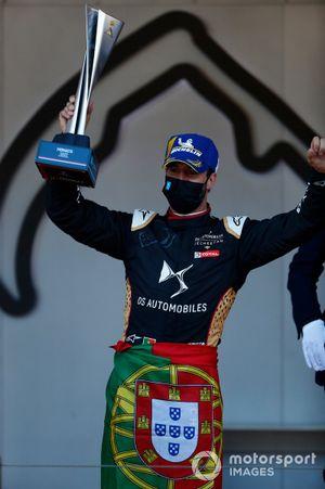 Antonio Felix Da Costa, DS Techeetah, 1st position, with his trophy on the podium