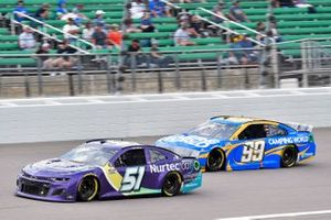Cody Ware, Petty Ware Racing, Chevrolet Camaro NURTEC ODT a nd Daniel Suarez, TrackHouse Racing, Chevrolet Camaro Camping World