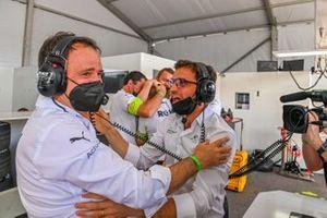 Jerome d'Ambrosio, Deputy Team Principal, Venturi Racing, the Venturi team celebrate victory in the garage