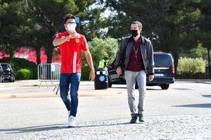 Charles Leclerc, Ferrari and Nicolas Todt, Manager of Charles Leclerc, Ferrari