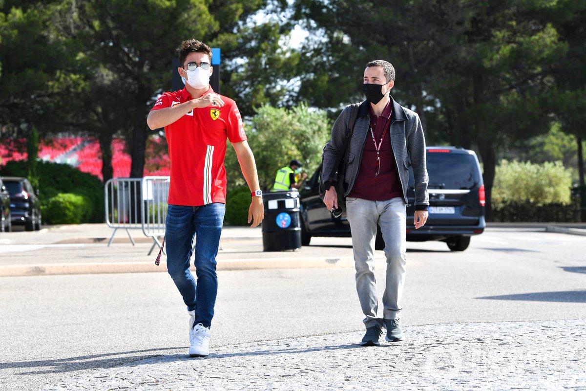 Charles Leclerc, Ferrari y Nicolas Todt, Manager de Charles Leclerc, Ferrari