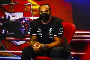Lewis Hamilton, Mercedes, in the post Qualifying Press Conference