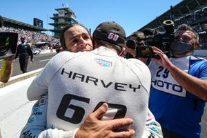 Helio Castroneves, Meyer Shank Racing Honda, Jack Harvey, Meyer Shank Racing Honda