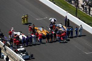 Pietro Fittipaldi, Dale Coyne Racing with RWR Honda, Felix Rosenqvist, Arrow McLaren SP Chevrolet, Takuma Sato, Rahal Letterman Lanigan Racing Honda