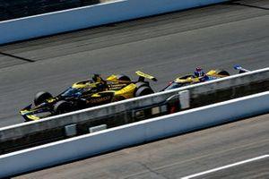 Colton Herta, Andretti Autosport Honda and Alexander Rossi, Andretti Autosport Honda