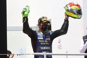 Podium: Dominique Aegerter, Ten Kate Racing Yamaha