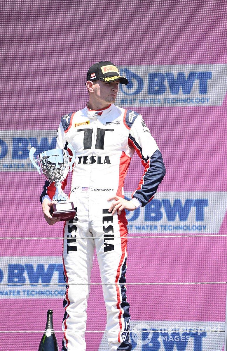 Podio: tercer lugar Logan Sargeant, Charouz Racing System