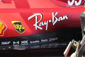 Ferrari SF21 of Carlos Sainz Jr., floor detail