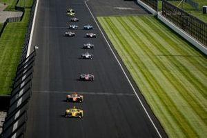 Scott McLaughlin, Team Penske Chevrolet, Felix Rosenqvist, Arrow McLaren SP Chevrolet, Ed Carpenter, Ed Carpenter Racing Chevrolet