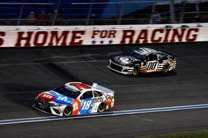 Kyle Busch, Joe Gibbs Racing, Toyota Camry M&M's Red, White & Blue, Quin Houff, StarCom Racing, Chevrolet Camaro 8 Ball Chocolate Whiskey