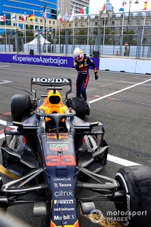 Max Verstappen, Red Bull Racing kicking his car after retiring from the race