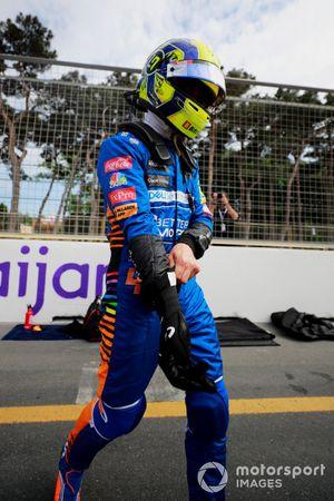 Lando Norris, McLaren, on the grid