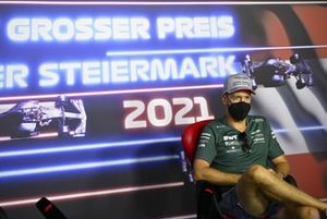 Sebastian Vettel, Aston Martin in the drivers press conference