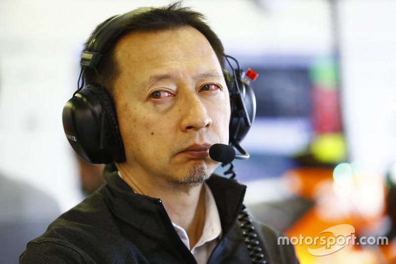Глаза босса Honda в Ф1 Юсуке Хасегавы на Гран При Австралии