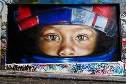 F1 themed Melbourne street art
