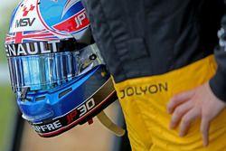 Helmet of Jolyon Palmer, Renault Sport F1 Team